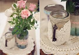 Vintage Decorated Mason Jars