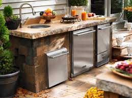 Outdoor Patio Kitchen Modular Outdoor Kitchen Kits Enjoy The Summer Outdoor