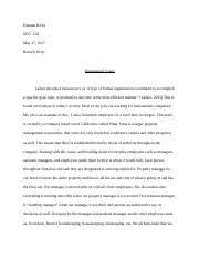 bureaucracy paper soc soc dr timlarkin  4 pages bureaucracy essay