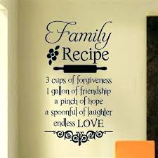 vinyl wall art ideas kitchen quotes wall art charming wall decals for kitchen family recipe kitchen vinyl wall art  on is vinyl wall art easy to remove with vinyl wall art ideas custom vinyl wall decals sayings for bathroom
