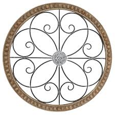 Shop wayfair for the best wood round wall decor. 30x30 Metal Wood Round Medallion Wall Art At Home