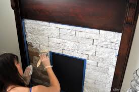 creating a faux stone fireplace with airstone cleverlyinspired 2
