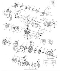 Poulan xt 85 gas trimmer parts diagram for power unit