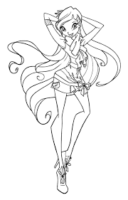 Coloring Pages Winx Google Search