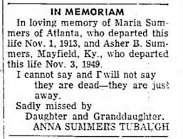 Death of Asher B Summers - Newspapers.com