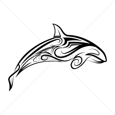 Dolphin Tattoo Vector Image 1457476 Stockunlimited