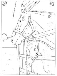 Kleurplaten Paradijs Kleurplaat Paarden In De Stal