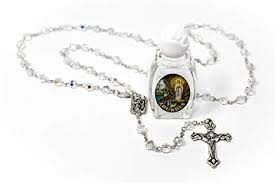 blessed bottle of lourdes water crystal our lady of lourdes rosary beads catholic gifts from