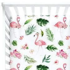 flamingo baby bedding