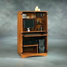 london solid oak hideaway home office computer. Hideaway Office Desk Cabinet New London Solid Oak Home Computer . U