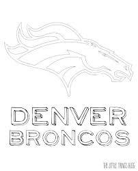 Denver Broncos Coloring Sheet Denver Broncos Colors Paints Coloring