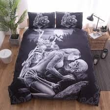 3d bedding set duvet cover pillowcase y beauty king skull duvet cover set pillowcase bedroom twin uk queen king 5 size sheets and bedding clearance duvet