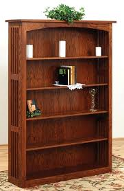mission style bookshelf off corner desk in cherry solid wood furniture living room style mission style mission style