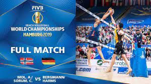 Mol/Sorum (NOR) vs. Bergmann/Harms (GER) - Full Match | Beach Volleyball  World Champs Hamburg 2019 - YouTube