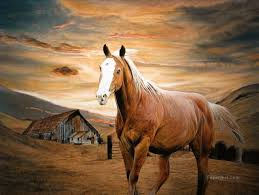 runaway horse oil paintings