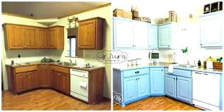 painting oak kitchen cabinets before and after refinishing wood cabinet white
