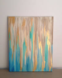 blue gold abstract on 16 x 20 stretched canvas by southerncanvasco