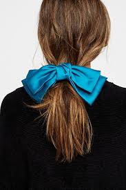 Bows In Hair Style ponytailwithpeacockbluehairbow750x1125jpg 4145 by wearticles.com