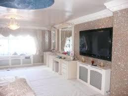 glitter wallpaper living room ideas