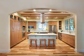 Hardwood Floors Kitchen Hardwood Flooring In The Kitchen Pine Wood Flooring Brown Curtains