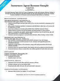 Sample Insurance Resume Insurance Agent Resume Example Sample Resume