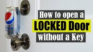please lock door. How To Open A Locked Door Without Key Please Lock