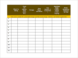 Medication Spreadsheet Schedule Free Printable Medication Schedule Under Fontanacountryinn Com