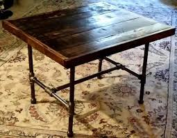 diy pallet iron pipe. Recycled Pallet Table With Metal Base Diy Iron Pipe