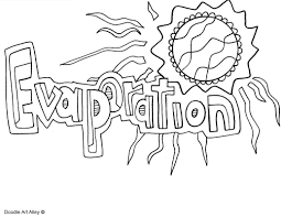Water Cycle Printable Coloring Page Pdf Free Worksheets For