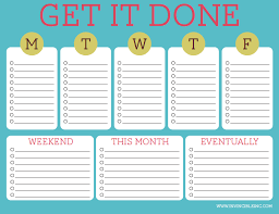 week schedule print out printable to do list invincible inc