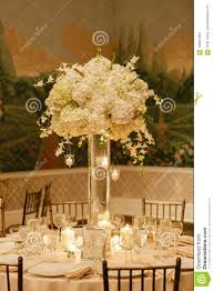 Wedding Reception Arrangements For Tables Wedding Centerpiece Table Set For Reception Stock Photo Image Of