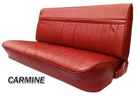 bench seat cover with horizontal band view detailed images 9