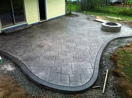 concrete patio designs with fire pit. Concrete Patio Ideas Nz Stamped And Fire Pit Large Ashlar Pattern With Seamless Slate Border Pictures Designs