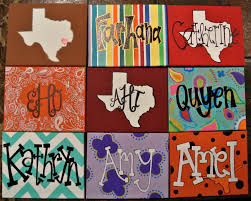 cute canvas painting ideas colorful custom name