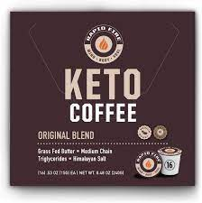 ( 4.6 ) stars out of 5 stars 24 ratings , based on 24 reviews Amazon Com Rapidfire Rapid Fire Ketogenic High Performance Keto Coffee Pods Supports Energy And Metabolism Weight Loss Ketogenic Diet 16 Single Serve K Cup Pods Health Personal Care