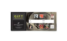 Photography Gift Certificate Template Photography Studio Gift Certificate Template Design