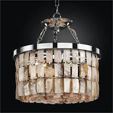 drum shape oyster shell chandelier la jolla 619hm16sp