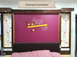 bed room shauryas casa decor photos ganesh peth nagpur wall sticker dealers wallpaper