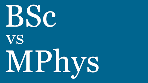 what does bsc stand for bsc vs mphys whats the difference youtube