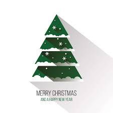 christmas tree vector. flat christmas tree vector graphic \u2014 happy holidays, long shadow, new year, minimal e