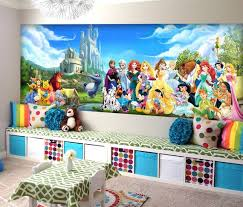 disney wallpaper for bedrooms. disney charachters wall mural vinyl wallpaper by kiinoo for bedrooms