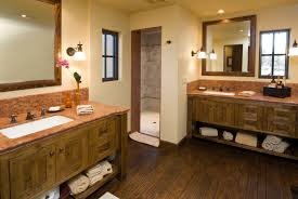 wood bathroom sink cabinets. another bathroom opting for separate double vanities the rustic woodwork of cabinetry stands out wood sink cabinets b