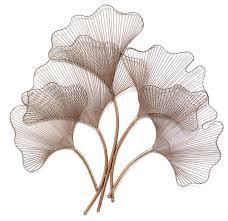 metal leaf wall decor palm