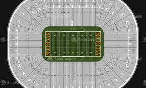 Michigan Stadium Seating Chart Row Numbers Actual Michigan Seating Chart Rows Ann Arbor Big House