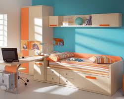 orange bedroom furniture. Bedroom Kids Modern Furniture Yellow Wardrobe Combine Wooden Study Desk Soft Blue Bunk Bed Brown Headboard Orange