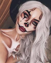 y skeleton clown makeup idea for