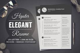 2 Pages Hipster Elegant Resume Resume Templates Creative Market