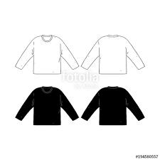 Hand Drawn Vector Illustration Of Blank Long Sleeve T Shirts