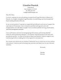 Best Cover Letter For Legal Secretary Granitestateartsmarket Com