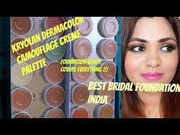 best foundation for your wedding kryolan dermacolor foundation palette